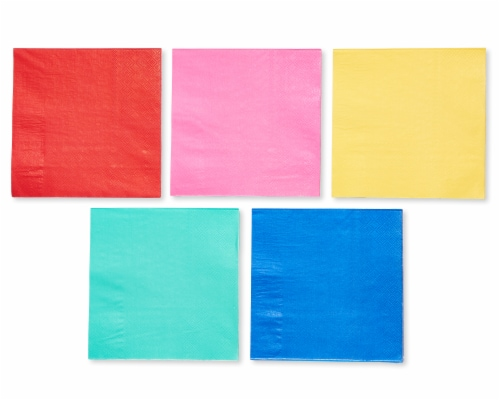 American Greetings Assorted Colors Lunch Napkins Perspective: front