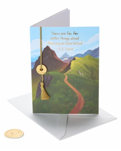 Papyrus Graduation Card (Better Things Ahead) Perspective: front
