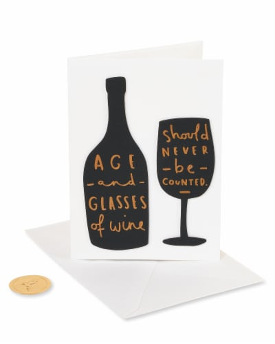 Papyrus Funny Birthday Card (Wine) Perspective: front