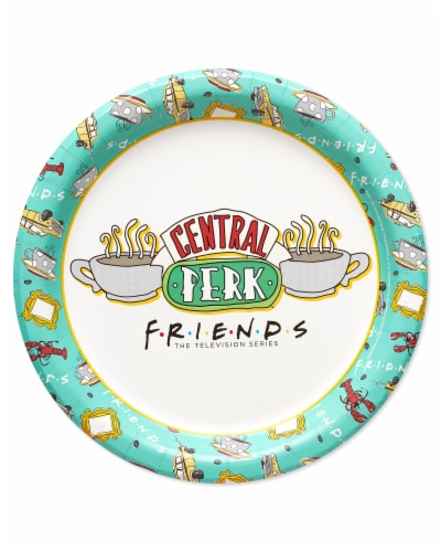American Greetings Friends Dessert Plates Perspective: front