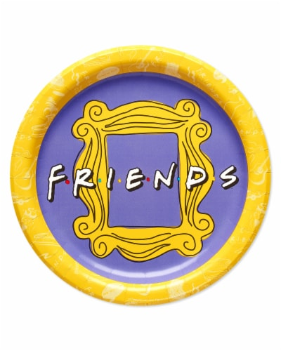 American Greetings Friends Dinner Plates Perspective: front