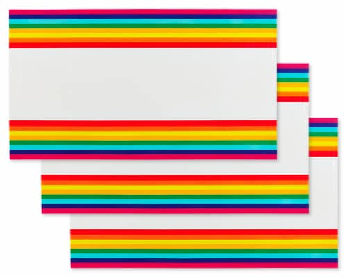 American Greetings Rainbow Plastic Table Covers Perspective: front