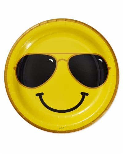 American Greetings Smiley Face Dinner Plates Perspective: front