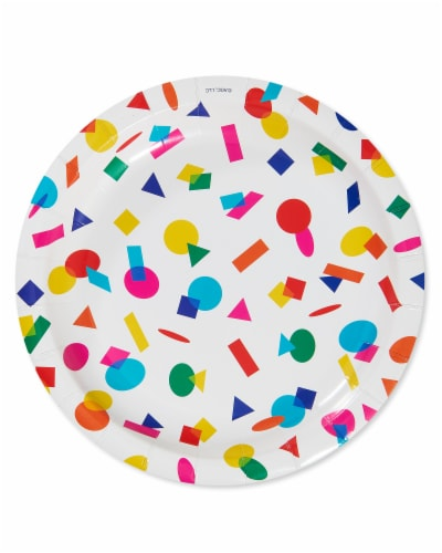 American Greetings Rainbow Dessert Plates Perspective: front