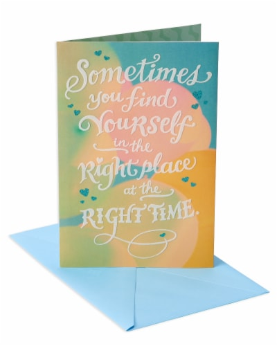 American Greetings Romantic Birthday Card (Right Place Right Time) Perspective: front