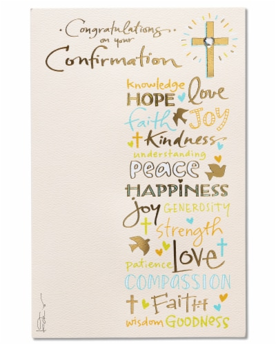American Greetings Confirmation Card (Congratulations Religious) Perspective: front
