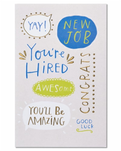 American Greetings New Job Card (You're Hired) Perspective: front