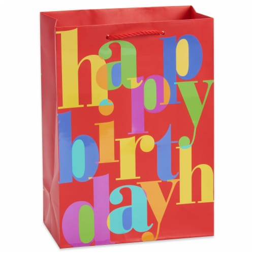 American Greetings #6 Birthday Lettering Gift Bag Perspective: front