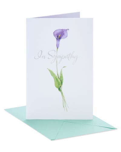 American Greetings #41 Sympathy Card (Flower) Perspective: front
