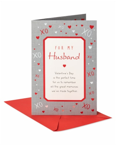 American Greetings #63 Valentine's Day Card for Husband (Great Memories) Perspective: front