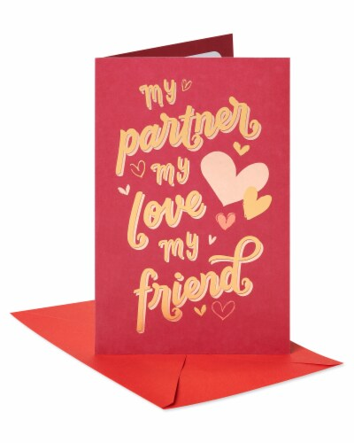 American Greetings #61 Romantic Valentine's Day Card (My Lover) Perspective: front