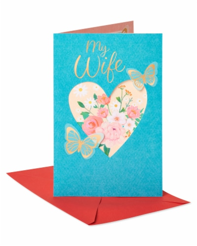 American Greetings #64 Valentine's Day Card for Wife (Butterflies) Perspective: front