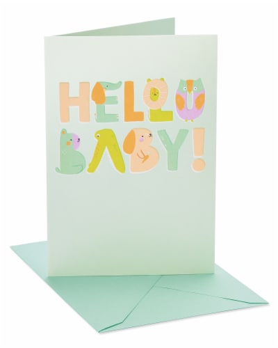 American Greetings Animals Baby Shower Card Perspective: front