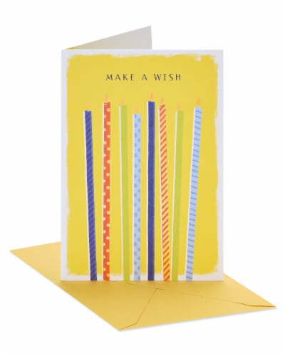 American Greetings #60 Birthday Card (Make a Wish) Perspective: front