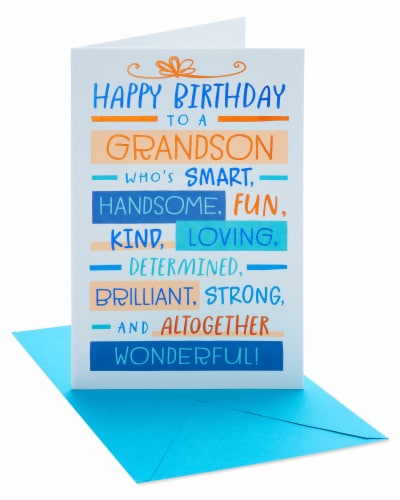 American Greetings #29 Birthday Card for Grandson (Wonderful) Perspective: front