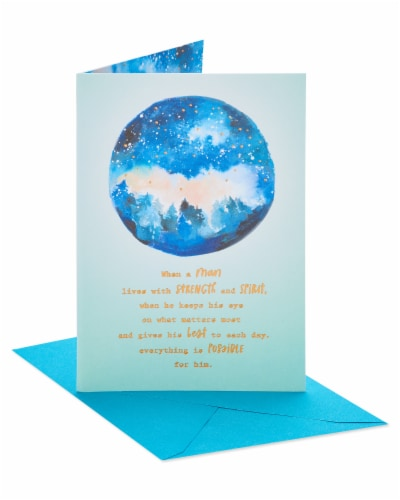 American Greetings Strength and Spirit Birthday Card for Man Perspective: front
