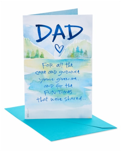 American Greetings Care and Guidance Birthday Card for Dad Perspective: front