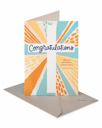 American Greetings #59 Religious Congratulations Card (Cross) Perspective: front