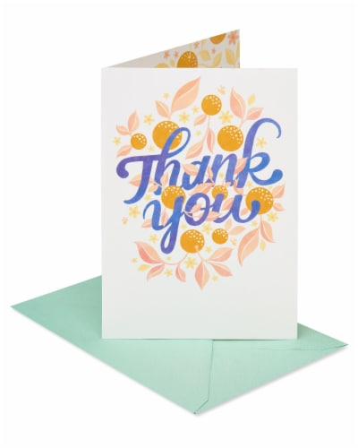 American Greetings #58 Thank You Card (Floral) Perspective: front