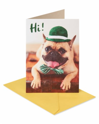 American Greetings #55 Thinking of You Card (Pug) Perspective: front