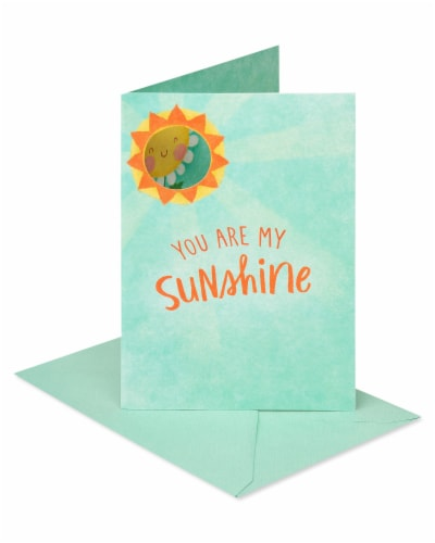 American Greetings #56 Thinking of You Card (Sun and Daisy) Perspective: front