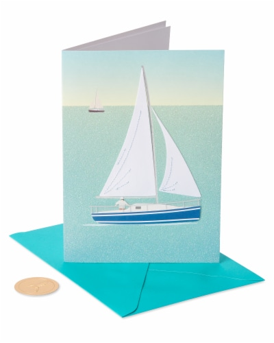 Papyrus Birthday Card (Sailboat) Perspective: front