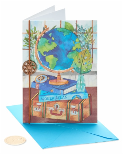 Papyrus #47 Thinking of You Card (Travel The World) Perspective: front