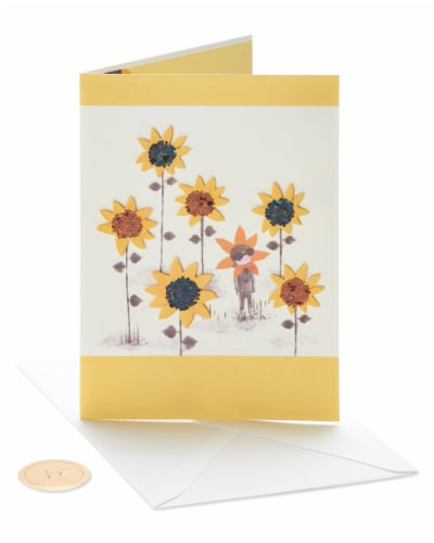 Papyrus #46 Thinking of You Card (Sunflower Girl) Perspective: front