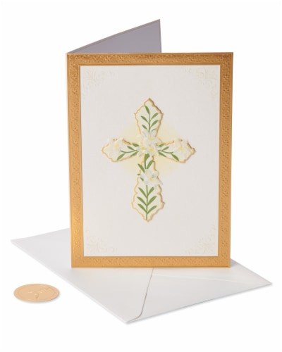 Papyrus #49 Sympathy Card (Cross) Perspective: front
