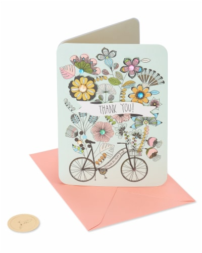 Papyrus #48 Thank You Card (Bike) Perspective: front