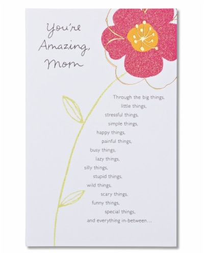 American Greetings Birthday Card for Mom (Floral You're Amazing) Perspective: front