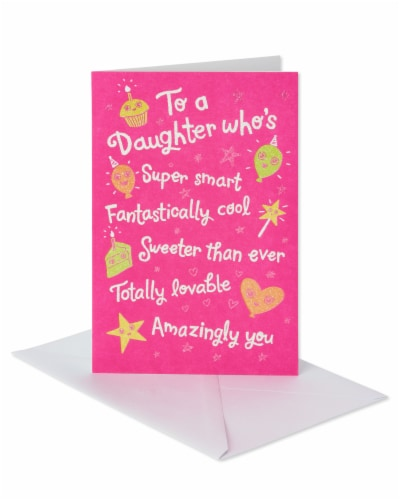 American Greetings Birthday Card for Daughter (Better and Better Every Year) Perspective: front