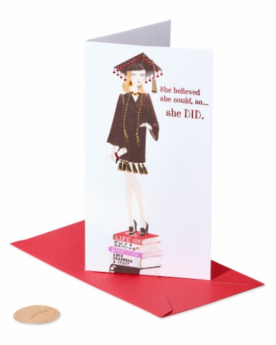 Papyrus Graduation Card (She Believed) Perspective: front
