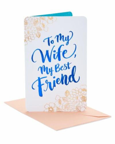 American Greetings #22 Birthday Card for Wife (Floral) Perspective: front