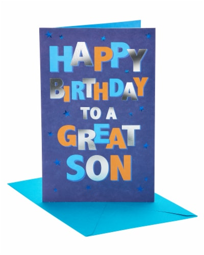 American Greetings To A Great Son Birthday Card for Son Perspective: front