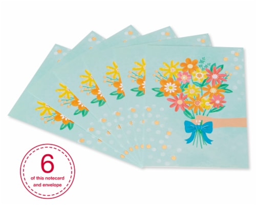 American Greetings #37 Thank You Card (Bouquet) Perspective: front