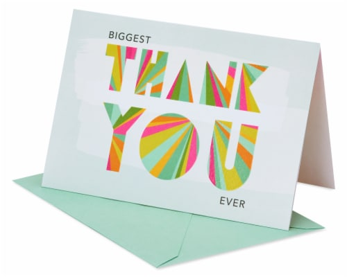 American Greetings #36 Thank You Card (Biggest Thank You) Perspective: front