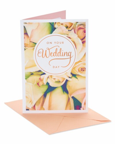 American Greetings #51 Wedding Card (Floral) Perspective: front