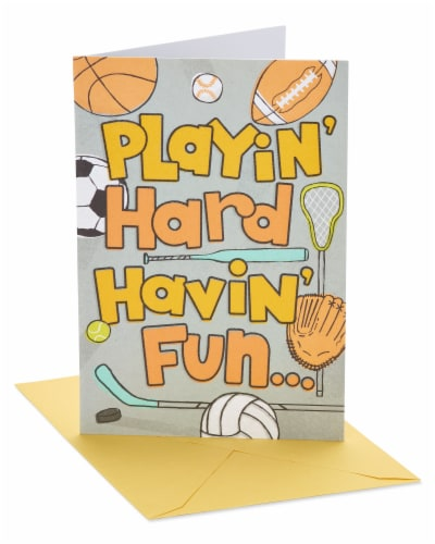 American Greetings #18 Birthday Card (Sports) Perspective: front