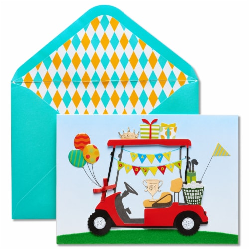 Papyrus Father's Day Card (Golf Cart) Perspective: front