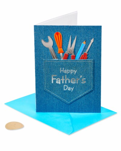 Papyrus Father's Day Card (Jean Pocket and Tools) Perspective: front