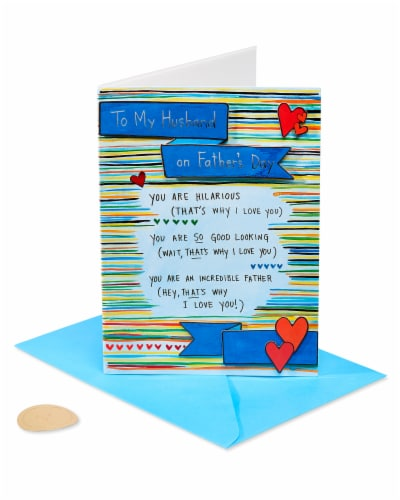 Papyrus Father's Day Card for Husband (Why I Love You) Perspective: front