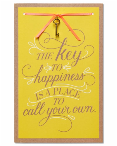 American Greetings New Home Card (Key to Happiness) Perspective: front
