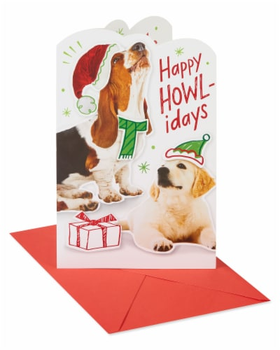 American Greetings Christmas Card (Happy Howl-idays) Perspective: front