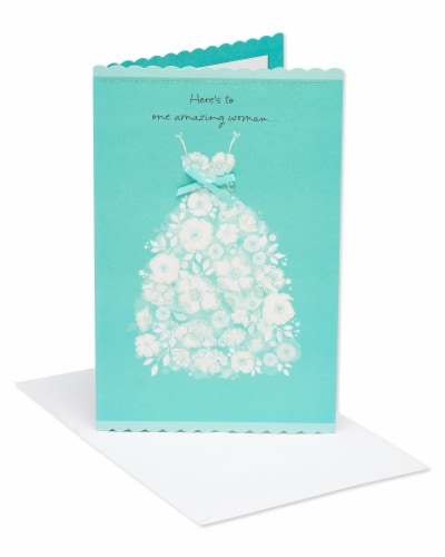 American Greetings Bridal Shower Card (Amazing Woman) Perspective: front