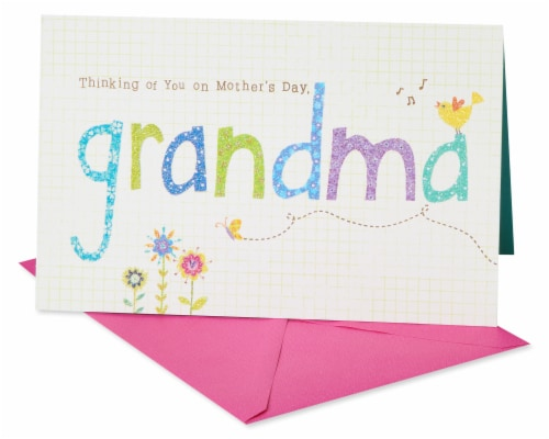 American Greetings #64 Mother's Day Card for Grandmother (Flowers) Perspective: front