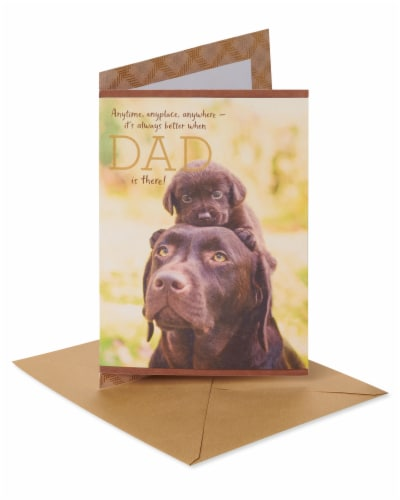 American Greetings #59 Father's Day Card (Dogs) Perspective: front