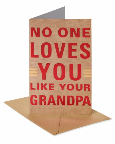 American Greetings #62 Father's Day Card for Grandpa (Loved) Perspective: front
