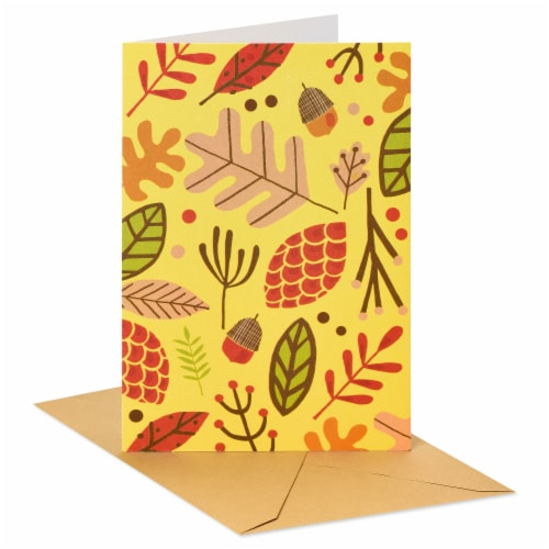 American Greetings Thinking of You Card (Leaves) Perspective: front