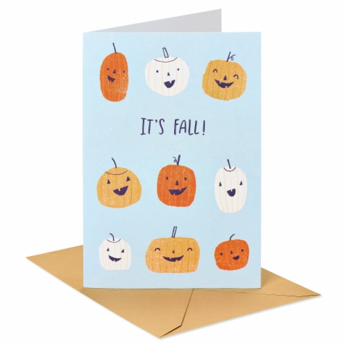 American Greetings Thinking of You Card (Pumpkins) Perspective: front
